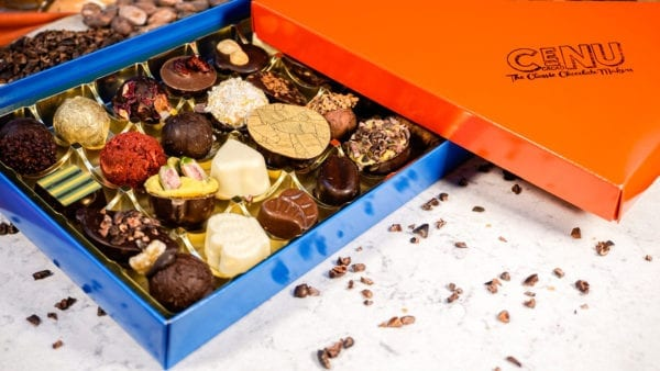 Glamour Selection Box (Standard), Cenu Cacao, Nibs, Crystallised Ginger