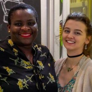 Rosemary and Team Member. Cenu Cacao