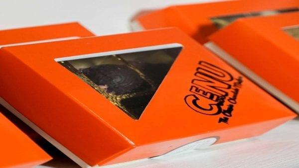 Glamour Selection Box, Cenu Cacao, Edible Chocolate Cups, Pistachio, Caramel, Crystallised Ginger